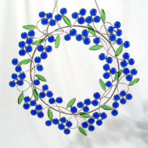 Blueberry Glass Wreath