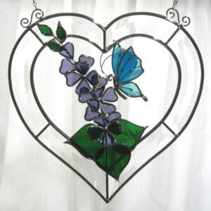 Butterfly Beveled Heart