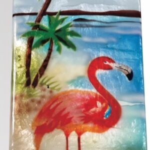 Flamingo Capiz Long Box