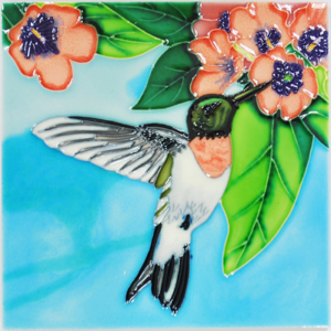 Hummingbird Ceramic Art Tile