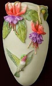 Hummingbird & Fuchsia Wall Sculpture