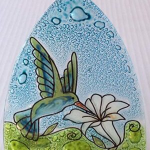 Hummingbird Recycled Glass Night Light