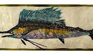 Marlin Sailfish Capiz Shell Long Box