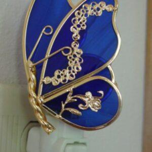 Sapphire Blue Butterfly Night Light