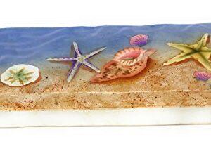 Sea Shells on the Beach Capiz Shell Long Box