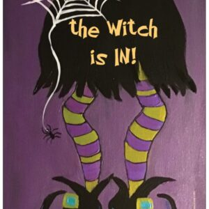 The Witch is In!! Refrigerator Magnet