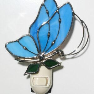 Baby Blue Butterfly Night Light