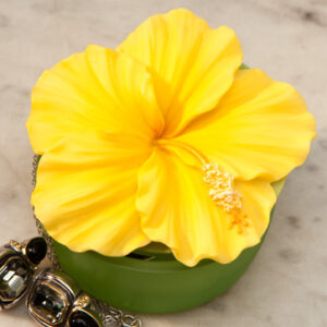 Yellow Hibiscus Keepsake Box